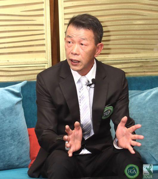 台灣職業高爾夫協會第十屆新任理事長陳榮興。鍾豐榮攝影