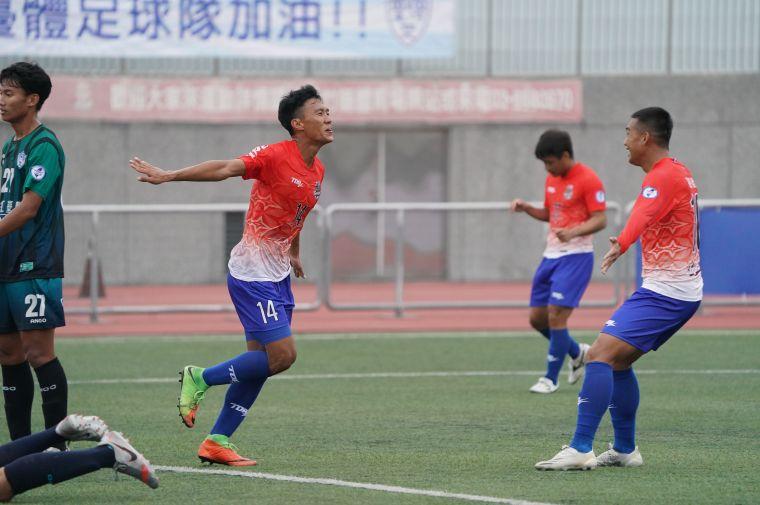 台灣電力陳昭安攻進本季首顆進球。大會提供