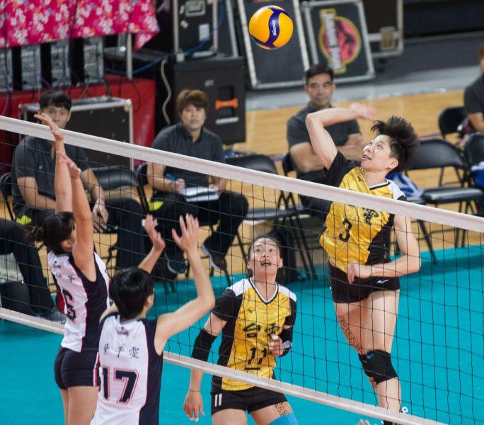台電女排 曾琬羚今日快攻表現優異。中華民國排球協會提供
