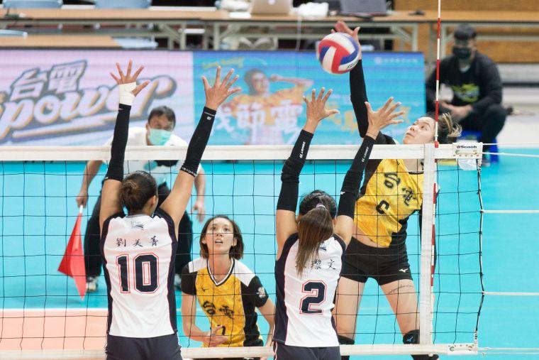 台電女排 陳姿雅拿下全隊最高16分。中華民國排球協會提供