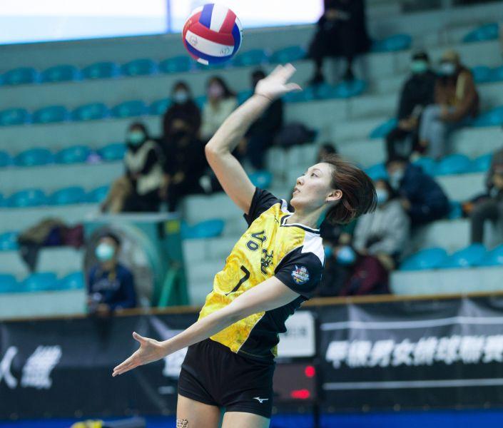 台電女排 黃芯瑜拿下全隊最高18分。中華民國排球協會提供