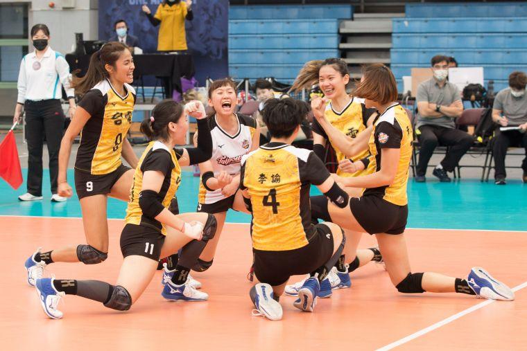 台電女排挑戰賽5連霸。中華民國排球協會提供