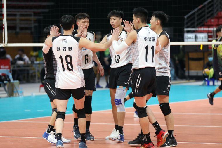 台電男排穩居冠軍寶座。中華民國排球協會提供