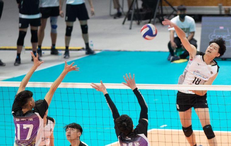 台電男排許紋誠。中華民國排球協會提供
