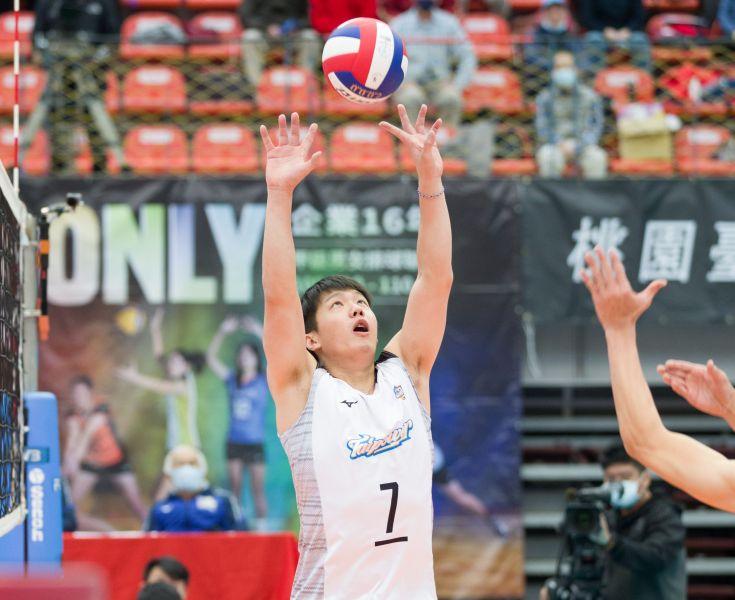 台電男排-舉球員戴儒謙。中華民國排球協會提供