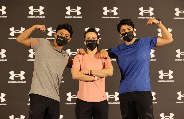 UA team的東奧選手楊勇緯(左起)、郭婞淳和陳念琴都準備重返訓練。李天助攝