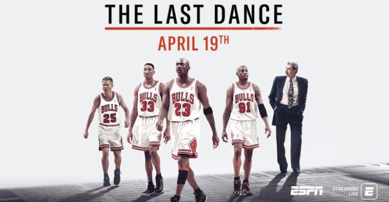 《最後一舞》紀錄片讓喬丹再度爆紅。摘自網路