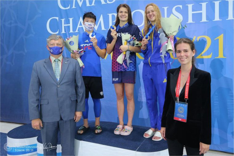 國際蹼泳總會於7月3日至11日在俄羅斯托木斯克舉行的第21屆世界蹼泳錦標賽暨國際大學蹼泳錦標賽。台中運動局提供