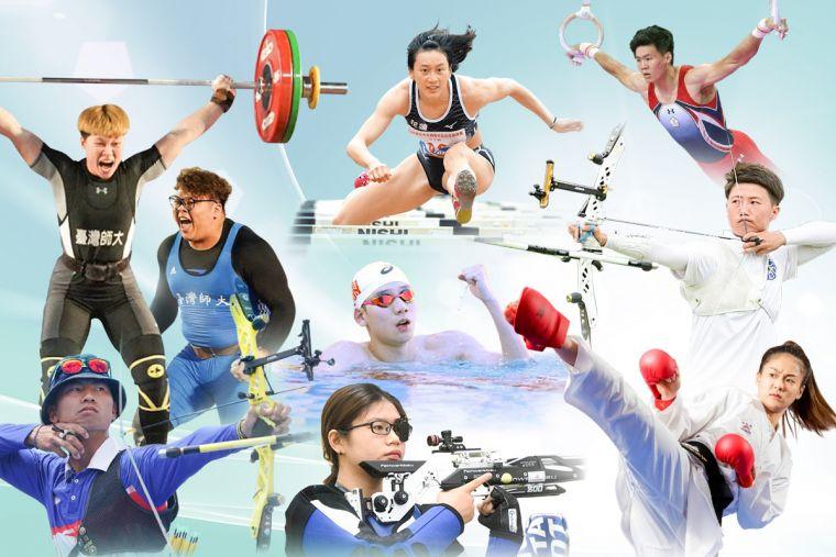 臺師大將有9位頂尖運動員前進東京奧運。也將在即日起推出的線上居家運動課,邀請大家一起為運動員加油。官方提供