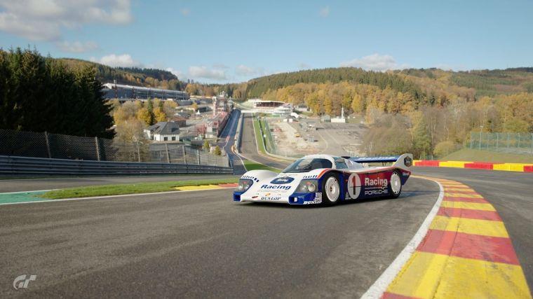 保時捷962C於Gran Turismo Sport遊戲畫面。官方提供