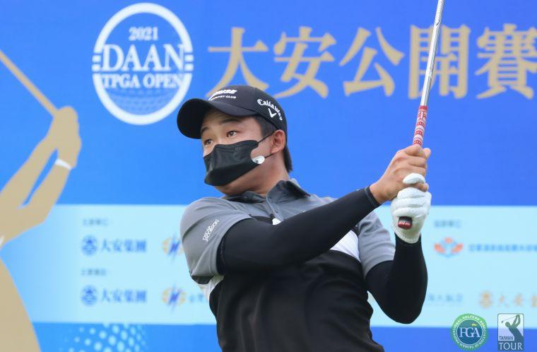 大安公開賽第二回合李玠柏69.67(-8)暫並列第一。鍾豐榮攝