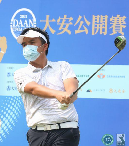大安公開賽第二回合洪健堯68.69(-7)暫並列第三。鍾豐榮攝影