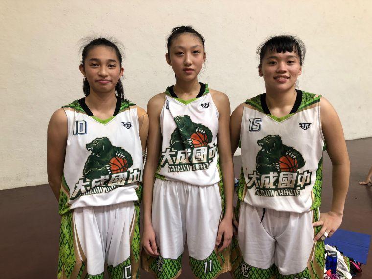 大成國三「三劍客」卓承沅(左起)、宋欣儒、林芷瑄。大會提供