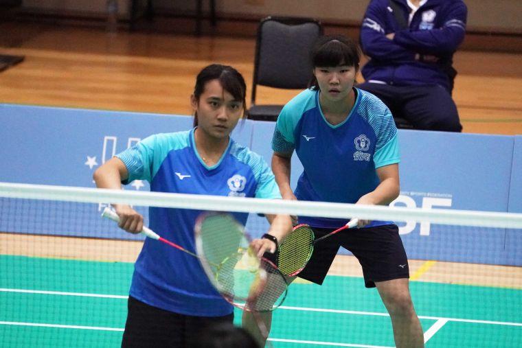 女雙劉巧芸(左)、汪郁喬(右)。大會提供