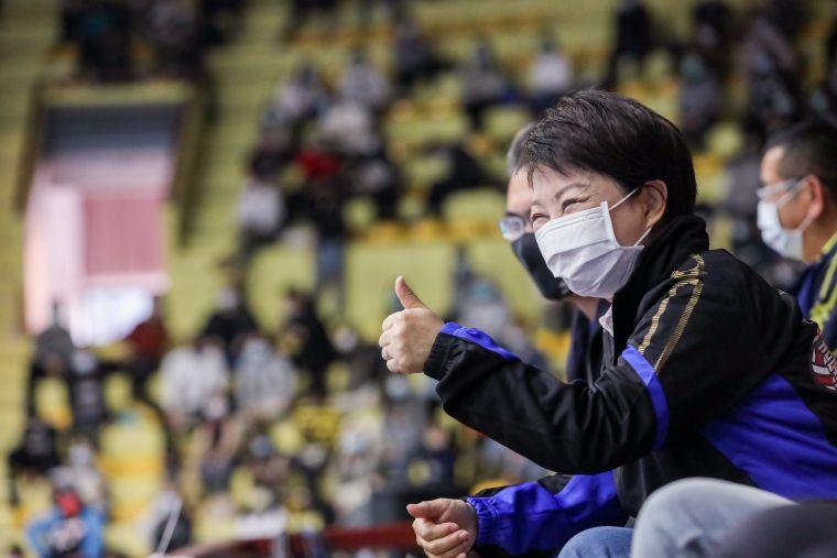 市長盧秀燕特別到場全程觀賽。台中市運動局提供