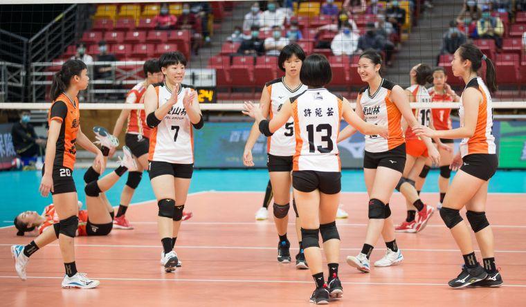 愛山林 四局喜收勝利。中華民國排球協會提供