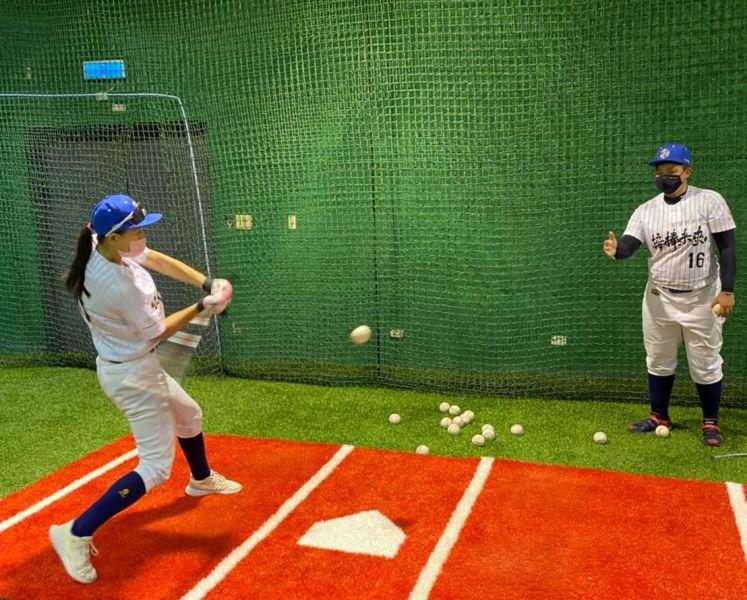 接棒未來女子棒球隊積極備戰。官方提供