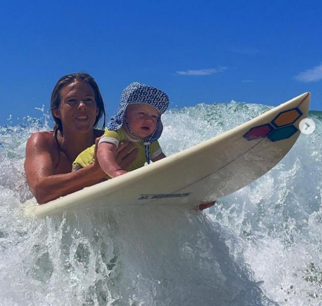 布萊特時常在IG上與兒子的開心合照。摘自布萊特IG