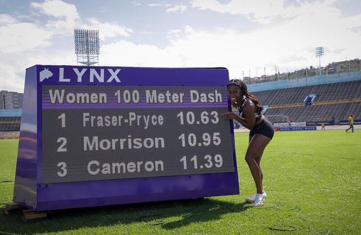 34歲媽媽選手弗雷瑟普萊絲飆出史上第二快成績。摘自個人IG