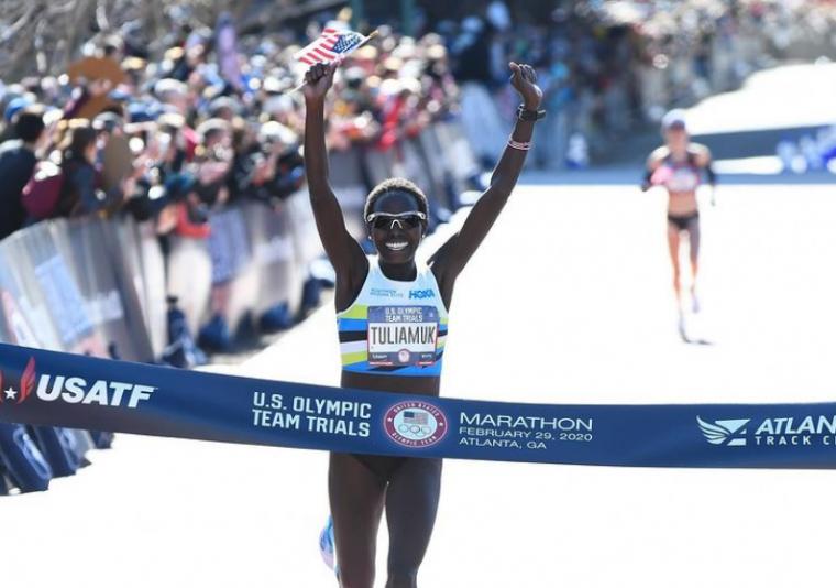 圖利亞穆克去年獲得美國奧運選拔賽女子馬拉松冠軍。摘自圖利亞穆克IG