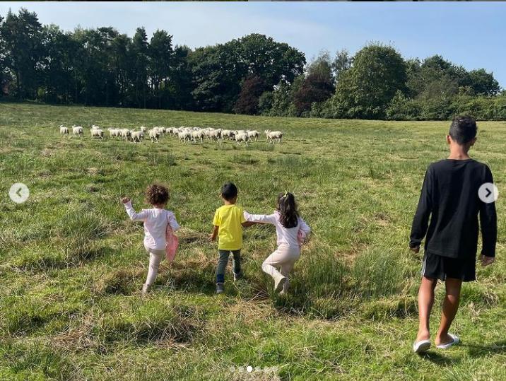 受不了豪宅外的羊叫聲,C.羅只好搬家。摘自喬姬娜 IG