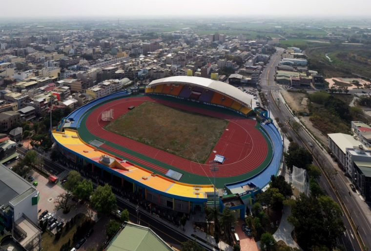 斗南田徑場以新面目迎接110年全中運。雲林縣體育場/提供。