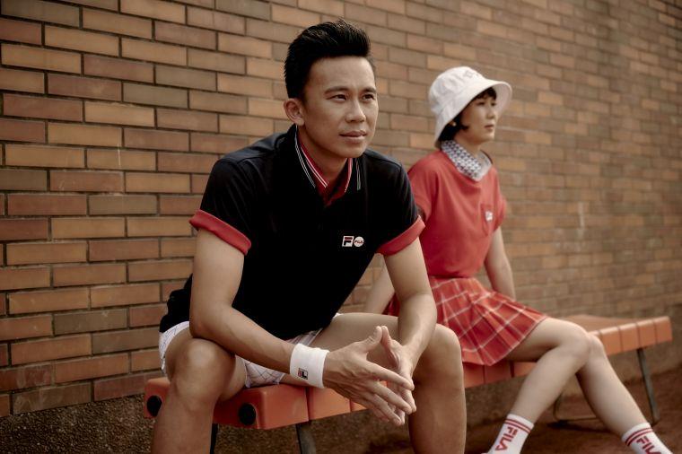 FILA力邀網球國手兄妹檔陳迪、陳宜  攜手展演網球經典風範。官方提供