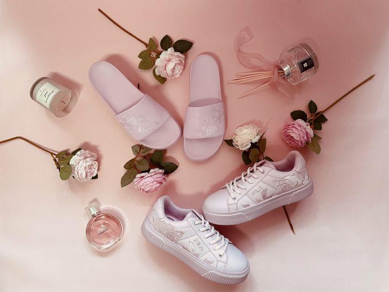 母親節必買粉紅色FILA COURT DELUXE BOLD即日起上市。官方提供