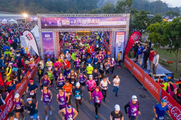 日月潭櫻舞飛揚路跑賽再延至明年。資料照片
