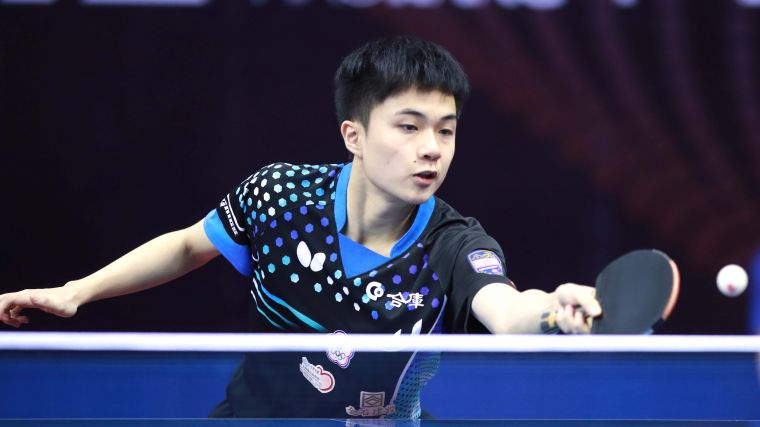 林昀儒打下台灣首個世界盃男單銅牌。資料照片