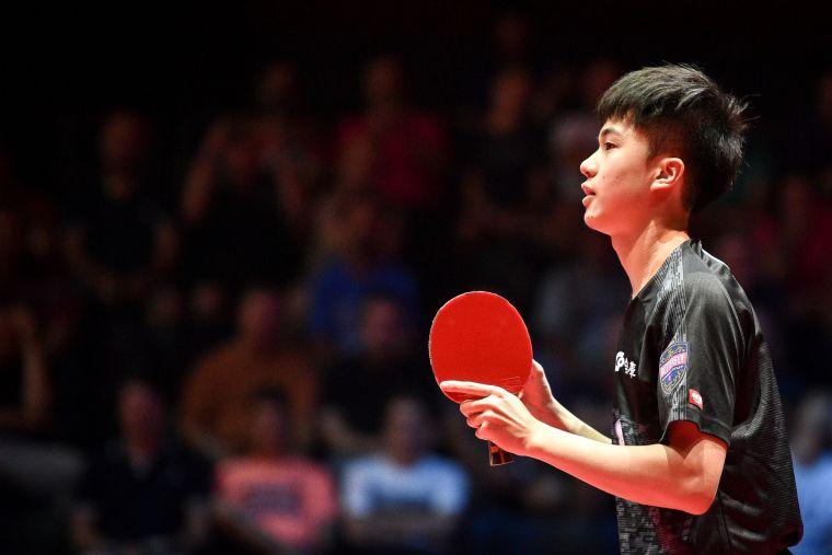 台灣18歲神童林昀儒連宰德國雙雄,摘自國際桌球總會官網