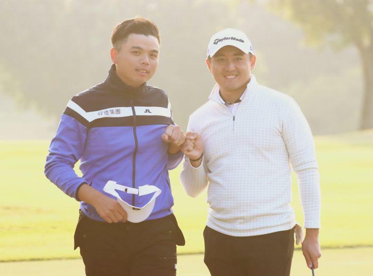 洪健堯(左)和葉昱辰一日兩勝。鍾豐榮攝