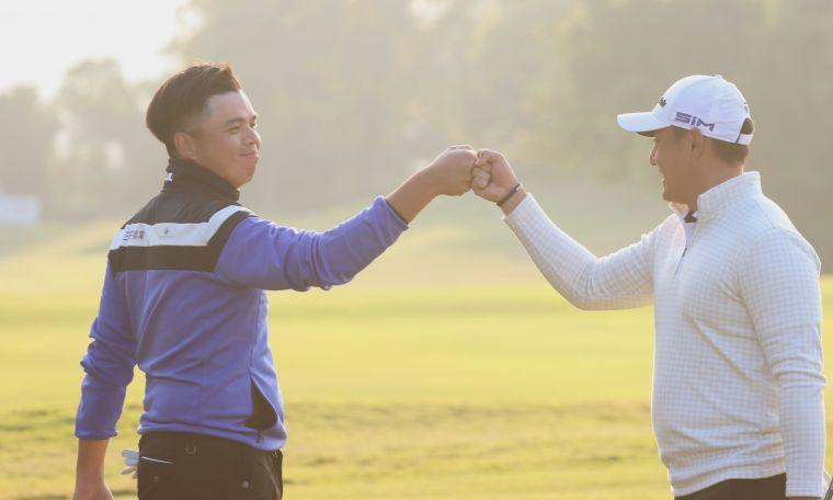 洪健堯(左)和葉昱辰一日兩勝。鍾豐榮攝影