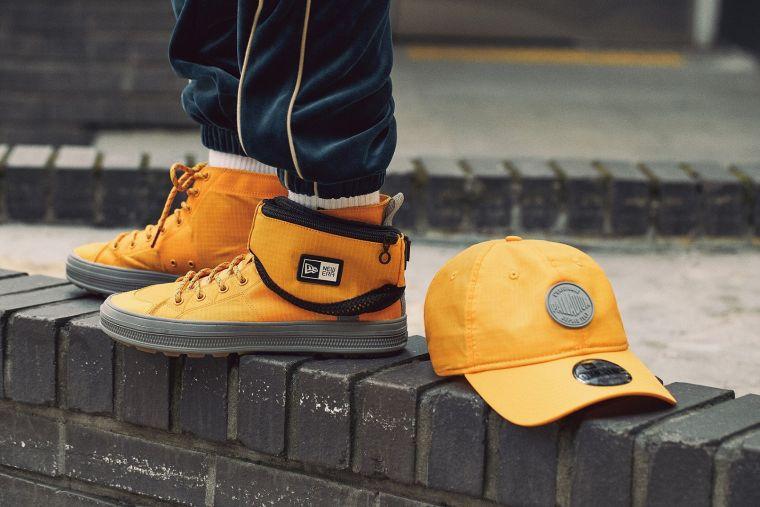 潮流品牌New Era與法國品牌Palladium合作,帶來全新聯名帽款與鞋款。官方提供