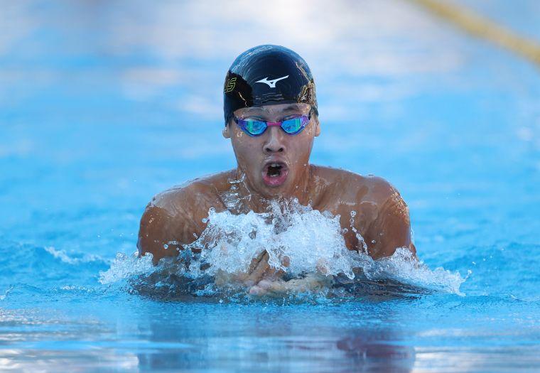王星皓今在全大運200混距他自己保持的全國紀錄僅0.18秒差距。李天助攝