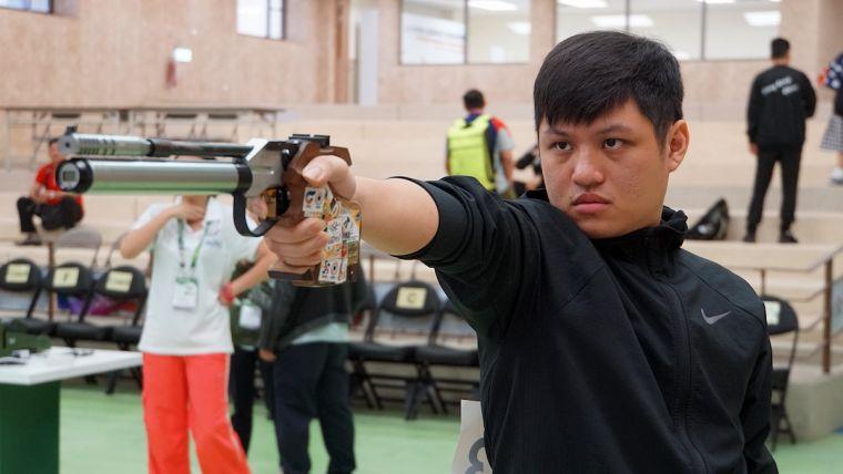 男子10公尺空氣手槍郭冠廷逆轉勝,順利打敗越南選手拿下金牌。主辦單位提供