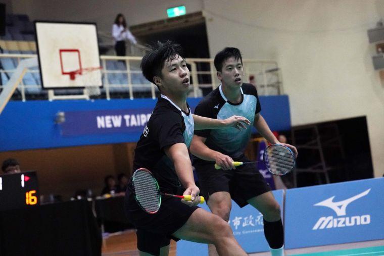 男雙林永晟(左)、楊明哲(右)。大會提供
