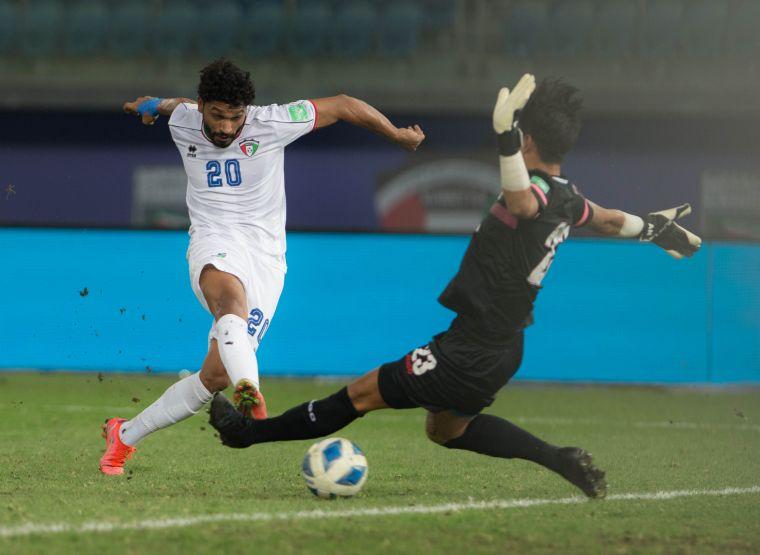 科威特納塞爾梅開二度。足協提供