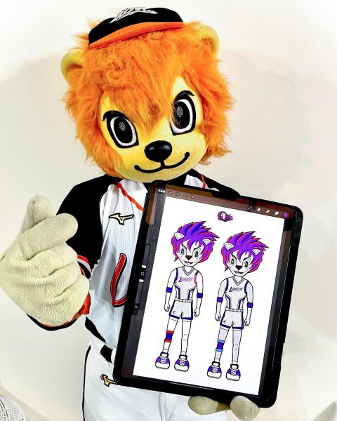 統一7-ELEVEn獅隊吉祥物萊恩也投稿參加攻城獅吉祥物徵件大賽。官方提供