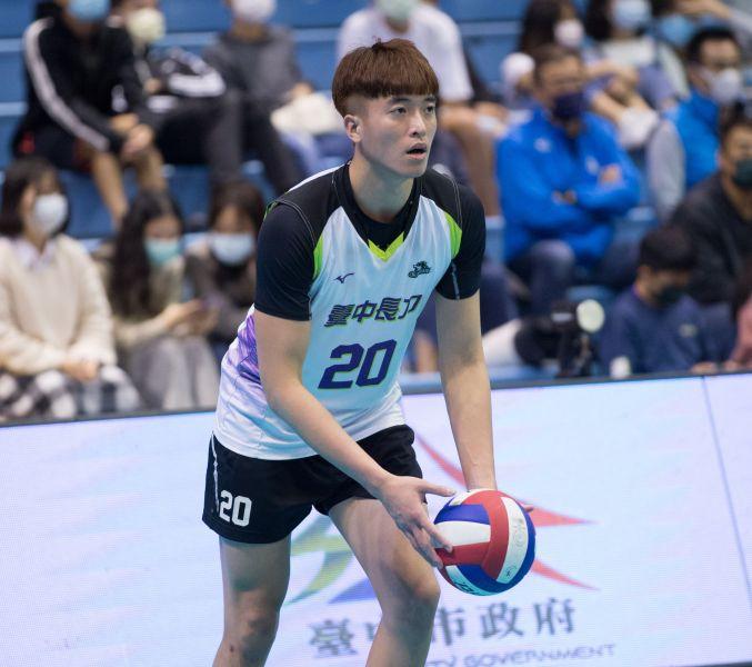臺中長力 焦璿誠。中華民國排球協會提供