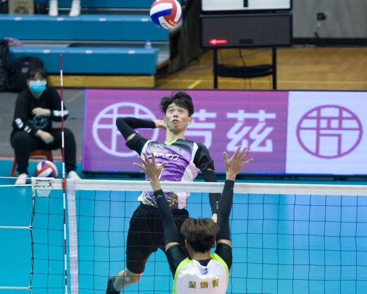臺中長力 高偉誠攻得全場最高29分。中華民國排球協會提供