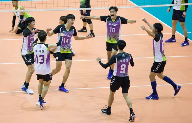 臺中長力奪得勝利。中華民國排球協會提供
