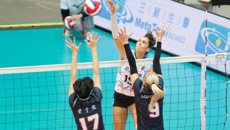 臺北鯨華-Jessica Silva。中華民國排球協會提供