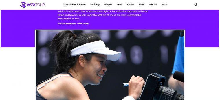 WTA官網採訪謝淑薇澳洲教練保羅。摘自WTA官網