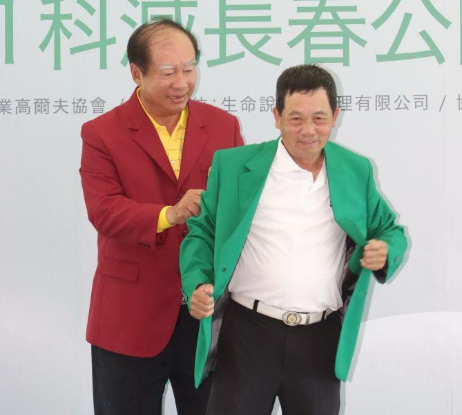 超級長春張欽國兩天打出72桿以(E)奪冠。鍾豐榮攝影