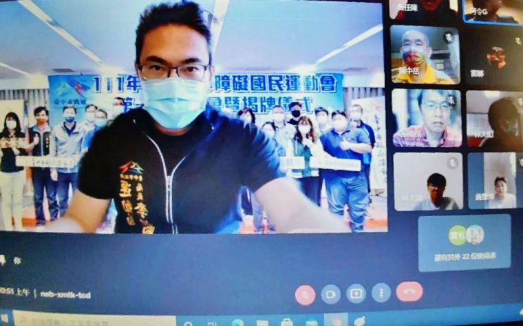 運動局長李昱叡代表市長盧秀燕全程出席交流。台中運動局提供