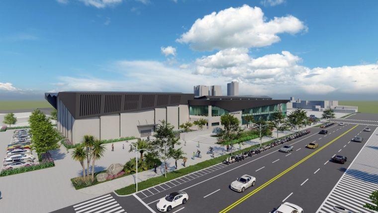 高雄楠仔坑運動中心示意圖。高雄運發局提供