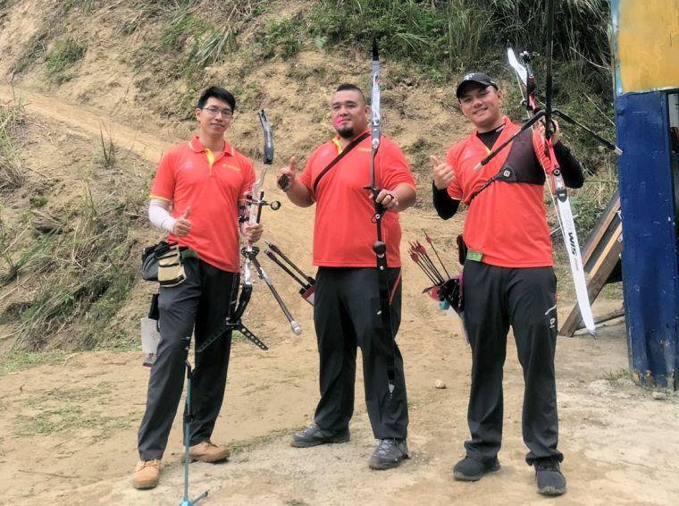 高雄市在原野射箭獲得男子團體銀牌。高雄市政府運動發展局提供