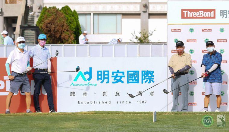 (左起)明安國際企業股份有限公司總裁鄭錫坤、TPGA理事長陳榮興、岱稜科技董事長蔡國隆、貴賓陳乾璋。TPGA提供