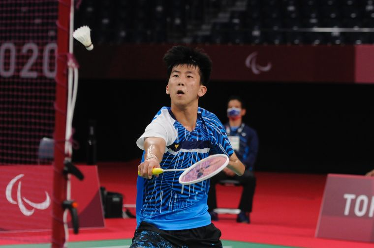 方振宇出賽男子單打SU5級小組賽首戰。體育署提供